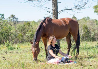 passeggiata a cavallo rilassante